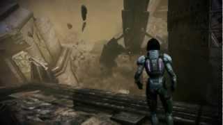 getlinkyoutube.com-Mass Effect 3: Thresher Maw kills a Reaper on Tuchanka