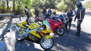 getlinkyoutube.com-Motovlog Group Ride - CBR1000 - ZX10 - Street Triple - DRZ400