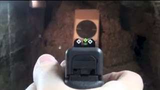 getlinkyoutube.com-Speed Sights on a Glock pistol (installing and shooting)