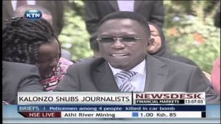 Kalonzo snubs journalist in a cord news conference