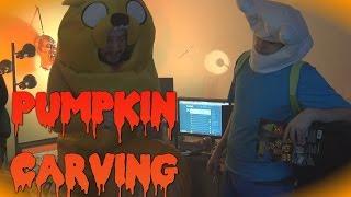 getlinkyoutube.com-Carving Pumpkins - LIVESCREAM Highlight