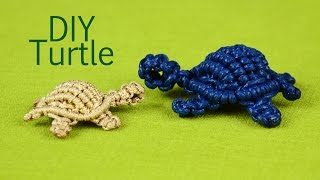 getlinkyoutube.com-How to: Macramé Turtle, Tortoise, Tortue, Tortuga, Tartaruga