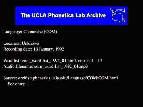 Comanche audio: com_word-list_1992_01
