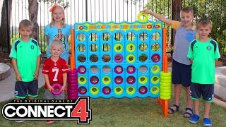 getlinkyoutube.com-GIANT CONNECT 4 || Family Game Night