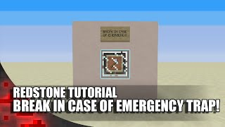 Minecraft: BREAK IN CASE OF EMERGENCY TRAP!