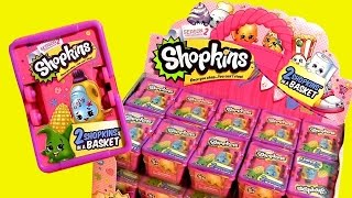 getlinkyoutube.com-30 NEW SHOPKINS Season2 CASE 2015 ❤ Bolsitas Canastitas Sorpresa Pink Shopping Basket