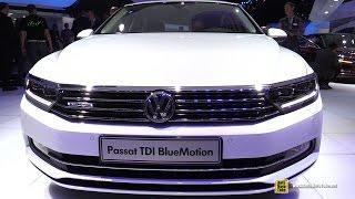 getlinkyoutube.com-2015 Volkswagen Passat TDI Blue Motion - Exterior and Interior Walkaround - 2014 Paris Auto show