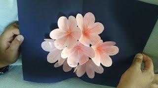 getlinkyoutube.com-Pop up Flower card Tutorial - Handmade