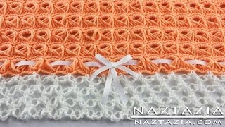 DIY Learn How To Crochet - Broomstick Lace Blanket Afghan Throw with Solomon's Knot (Baby Blanket)