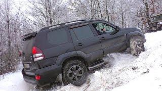 getlinkyoutube.com-Крутой Подъем [Toyota Prado vs Mitsubishi Pajero Sport vs Nissan Pathfinder vs УАЗ vs Нива] off-road