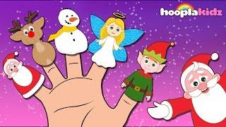 getlinkyoutube.com-Christmas Finger Family Song By HooplaKidz   Christmas Songs for Kids