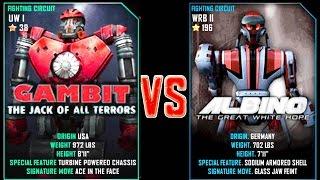 getlinkyoutube.com-Real Steel WRB Gambit VS Albino NEW Robot updating (Живая Сталь)