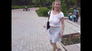 getlinkyoutube.com-Russian Mom in See-through Skirt