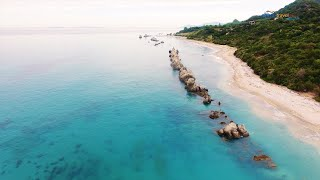 Artolithia beach drone flight