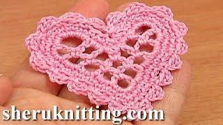 getlinkyoutube.com-Crochet Mesh Heart Tutorial 11 Valentine's Day, Wedding Ornament