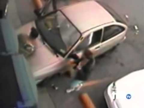 Stupid Car Accident - Dumb Woman Drives Into Man While Parking Crash Funny Epic Fail