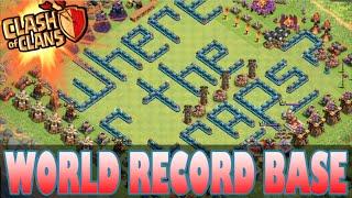 "getlinkyoutube.com-""WORLD RECORD BASE!"" - Clash of Clans - #1 BEST Base in HISTORY! Anti- Lavaloonion/Gowipe Base"