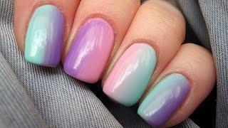 Pastel ombre soak off nails - Jak zrobic ombre na paznokciach hybrydowych?