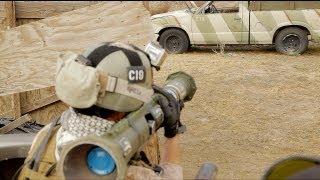 getlinkyoutube.com-Airsoft Battle - Desert Fox Field 01/26/13 KWA Umarex MP7 WE PDW H&K 416 AT4 Suicide bomber