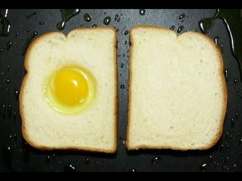 طريقه غريبه لقلي البيض !