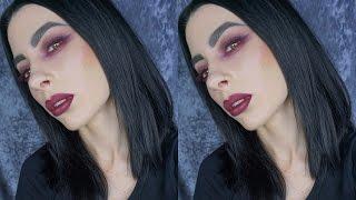 getlinkyoutube.com-Plum Lips, Plum Liner   Goth Fall Look using Kat Von D