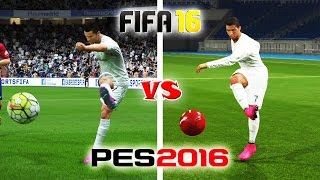 getlinkyoutube.com-FIFA 16 vs. PES 16: Long Shots, Finesse Shots, Lobs