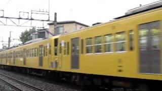 getlinkyoutube.com-西武新宿線 新101系2+4+4前パン急行