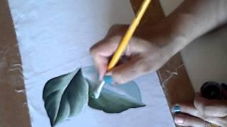 getlinkyoutube.com-Como pintar folhas c/ Dina Gomes