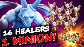 getlinkyoutube.com-Clash Of Clans   1 MINION + ALL HEALERS!!!   INSANE GAMEPLAY & FUNNY MOMENTS!