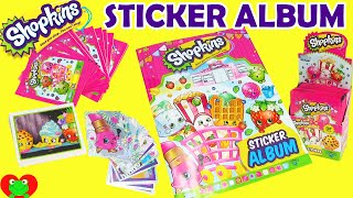 getlinkyoutube.com-Shopkins Sticker Album with Collectible Stickers
