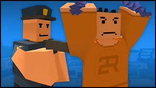 getlinkyoutube.com-Unturned 3.0 Cops Roleplay - BANK ROBBERY & THE RETURN TO ALCATRAZ!