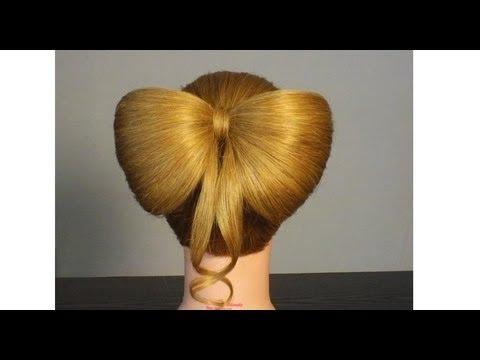 Бант из волос за 5 минут. Прическа для длинных волос.