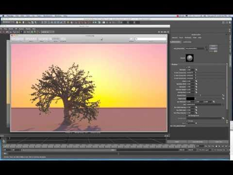 Maya 2011 Convert Paint Effects Stroke to Polygons Tutorial by Stuart Christensen