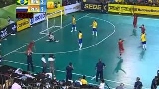 getlinkyoutube.com-Futsal(FINAL) Brasil (4) 3 x 3 (2) Rússia -CAMPEÃO Grand Prix Futsal 2013