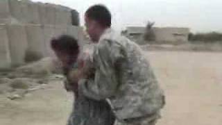 getlinkyoutube.com-Funny Videos / Soldiers Dancing with Iraqi girls