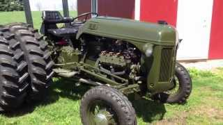 getlinkyoutube.com-Ford 8N V8 conversion olive drab