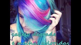 getlinkyoutube.com-Cabelo degradê, mechas coloridas e como fazer o turquesa com anilina ♥