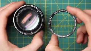 getlinkyoutube.com-Minolta MC Rokkor-PF 58mm f1.4 (MC I) Lens Disassembly and Diaphragm Cleaning