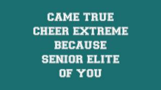getlinkyoutube.com-Cheer Extreme Senior Elite Worlds 2013 lyrics (new pyramid song)