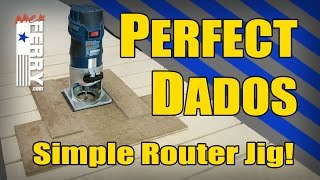 getlinkyoutube.com-Ⓕ Perfect Dados & Grooves - Simple Router Jig (ep68)