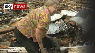 Oklahoma Tornado: Dog Emerges From Debris width=