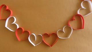getlinkyoutube.com-Cadena de Corazones {SUPER FACIL} // San Valentin