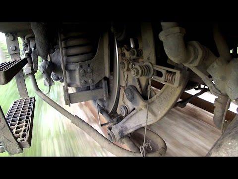 Работа подвески поезда на скорости 142 км ч