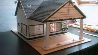 getlinkyoutube.com-Building a Scale model house Old Gas Station in 1/18 scale -  Alte Tankstelle im Masstab 1/18
