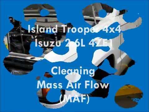Isuzu 2.6L 4ZE1 Mass Air Flow cleaning process