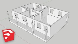 getlinkyoutube.com-SketchUp 8 Lessons: Advanced House Building