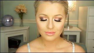 getlinkyoutube.com-Full Glam Pink Smokey Eye Makeup Tutorial