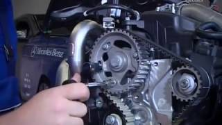 getlinkyoutube.com-Mercedes-Benz Engine OM607 Timing Belt Replacement