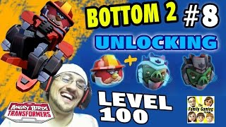Dads Road to Level 100 - Angry Birds Transformers! Unlocking 3 + Bottom 2 (Lets Play Part 8)