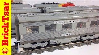 getlinkyoutube.com-LEGO 10022 Santa Fe Passenger Train Cars II Dining, Sleeping, Observation- 9V trains from 2002